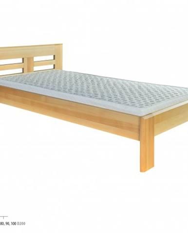 Drewmax Jednolôžková posteľ - masív LK160 | 80 cm buk