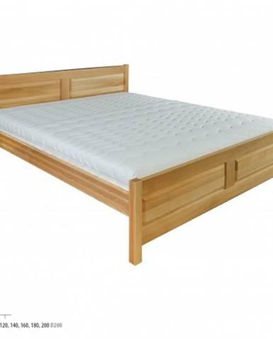 Drewmax Manželská posteľ - masív LK109   140 cm buk