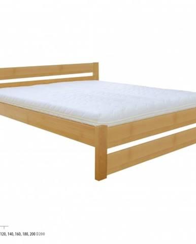 Drewmax Manželská posteľ - masív LK190 | 180 cm buk