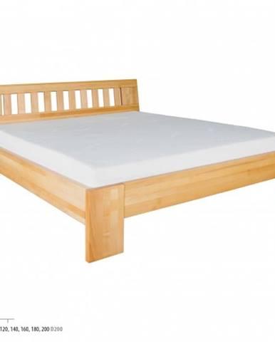 Drewmax Manželská posteľ - masív LK193 | 200 cm buk