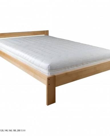 Drewmax Manželská posteľ - masív LK194 | 140 cm buk