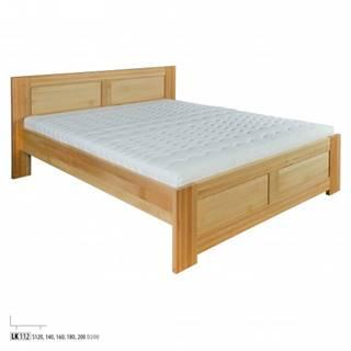 Drewmax Jednolôžková posteľ - masív LK112 | 120 cm buk