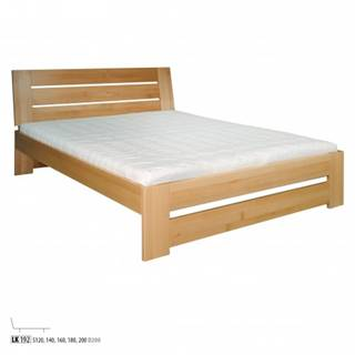 Drewmax Manželská posteľ - masív LK192 | 200 cm buk