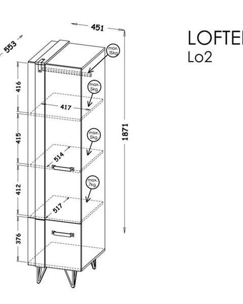 Dolmar Dolmar Skriňa Lofter LO2