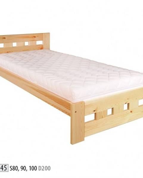 Drewmax Drewmax Jednolôžková posteľ - masív LK145 | 80 cm borovica