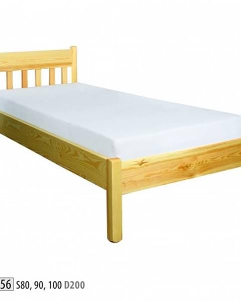 Drewmax Drewmax Jednolôžková posteľ - masív LK156   90 cm borovica