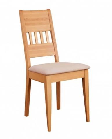 Drewmax Jedálenská stolička - masív KT174   buk / koža