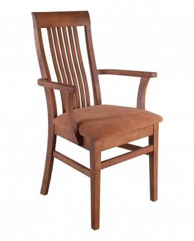 Drewmax Jedálenská stolička - masív KT178   buk / koža