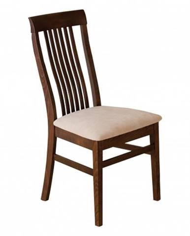 Drewmax Jedálenská stolička - masív KT179   buk / koža