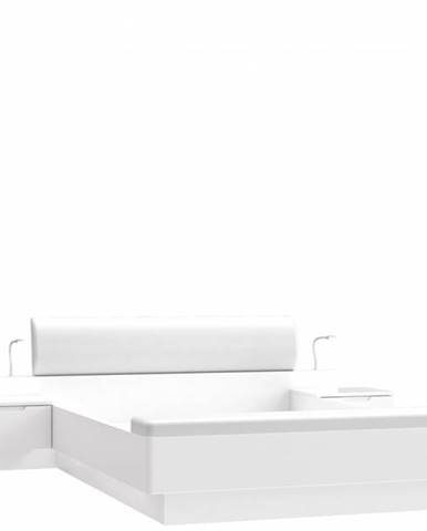 Forte Manželská posteľ Starlet White STWL163