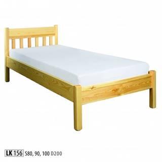 Drewmax Jednolôžková posteľ - masív LK156   90 cm borovica