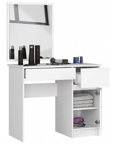 ArtAko Toaletný stolík so zrkadlom Clips P-2 / 60x50 biela