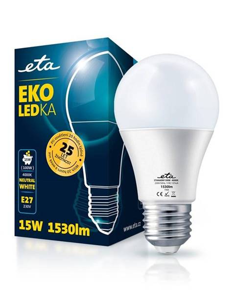 Eta LED žiarovka ETA EKO LEDka klasik 15W, E27, neutrálna biela