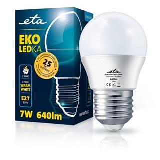 LED žiarovka ETA EKO LEDka mini globe 7W, E27, teplá biela