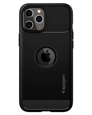 Kryt na mobil Spigen Rugged Armor na Apple iPhone 12/12 Pro čierny