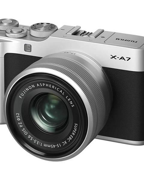 Fujifilm Digitálny fotoaparát Fujifilm X-A7 + XC15-45 mm strieborn