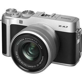 Digitálny fotoaparát Fujifilm X-A7 + XC15-45 mm strieborn