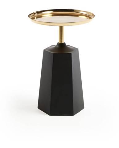 Čierny príručný stolík La Forma, ø 37 cm