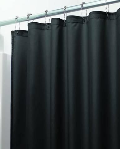Čierny sprchový záves iDesign, 200 x 180 cm