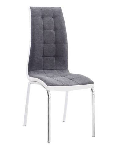 Jedálenská stolička tmavosivá/biela GERDA NEW poškodený tovar