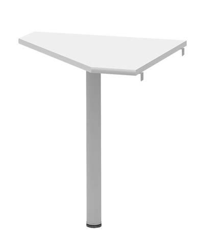 Rohový stolík biela/kov JOHAN 2 NEW 06