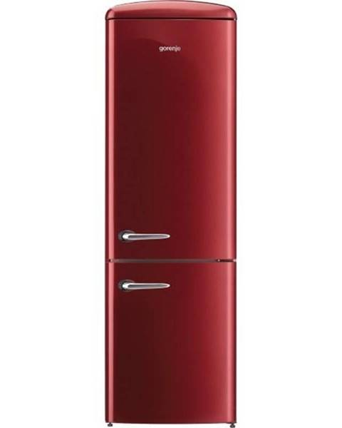 Gorenje Kombinácia chladničky s mrazničkou Gorenje Retro Ork192r vínov