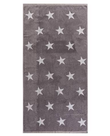 JAHU Osuška Stars sivá, 70 x 140 cm