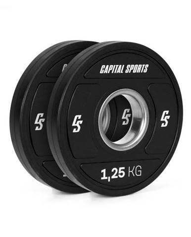 Capital Sports Elongate 2020, kotúče, 2 x 1,25 kg, tvrdá guma, 50,4 mm