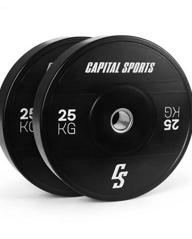 Capital Sports Elongate 2020, kotúče, 2 x 25 kg, tvrdá guma, 50,4 mm