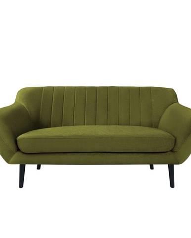 Zelená zamatová pohovka Mazzini Sofas Toscane, 158 cm