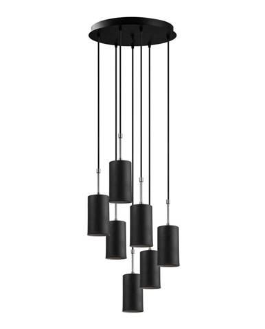 Čierne závesné svietidlo pre 7 žiaroviek Opviq lights Kem