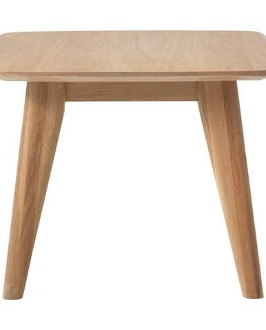 Odkladací stolík s nohami z dubového dreva Unique Furniture Rho, 60x60cm