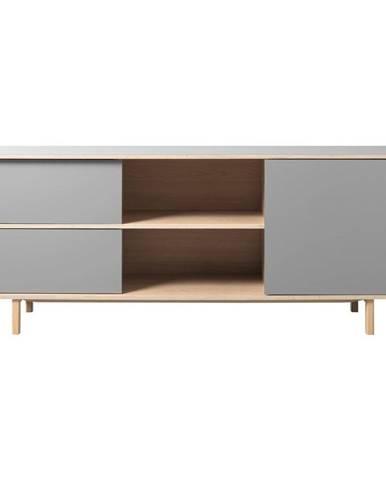 Sivá nízka komoda Unique Furniture Bilbao