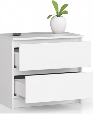 ArtAko Nočný stolík Clips K60 2SZ biela
