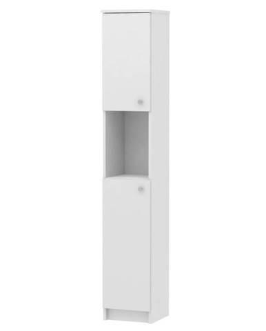 Vysoká skrinka biela GALENA SI14