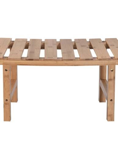 Príručný stolík k vírivke v tvare oblúka prírodný bambus VIREO TYP 3