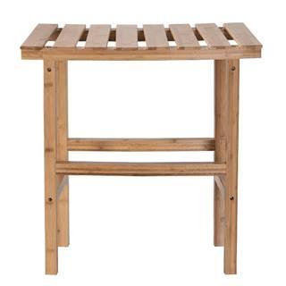 Príručný stolík k vírivke v tvare oblúka prírodný bambus VIREO TYP 1
