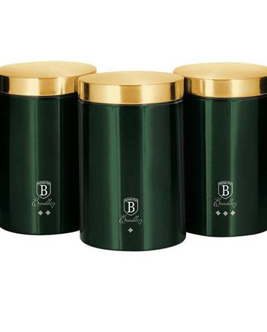 Berlinger Haus 3-dielna sada dóz na potraviny Emerald Collection