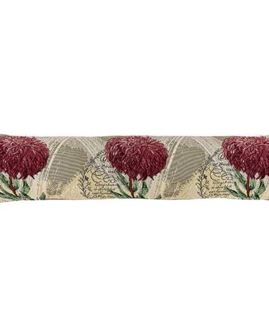 Boma Trading Ozdobný tesniaci vankúš do okien Chryzantéma fialová, 90 x 20 cm