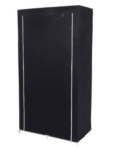 Látková šatníková skriňa RYG84 čierna