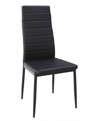 Jedálenská stolička Zita, čierna ekokoža%