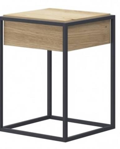 Odkladací stolík so zásuvkou Enjoy, dub artisan%
