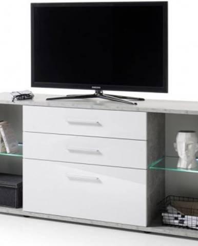 Široká TV skrinka Roof, s osvetlením%