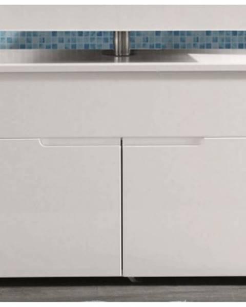 ASKO - NÁBYTOK Kúpeľňová skrinka pod umývadlo Spice, lesklá biela%