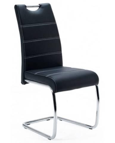 Jedálenská stolička Flora, čiera ekokoža%