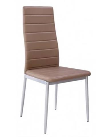 Jedálenská stolička Zita, šedo-hnedá ekokoža%