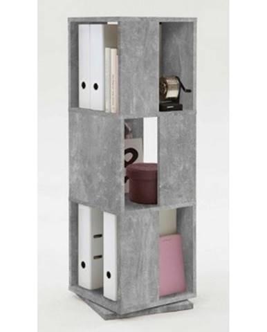 Otočný regál Tower, šedý betón%