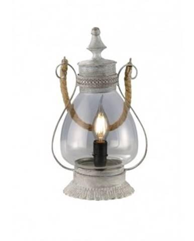 Stolná lampa Linda 503500161, šedá antik%