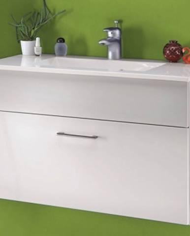 Kúpeľňová skrinka s umývadlom Splash, lesklá biela%