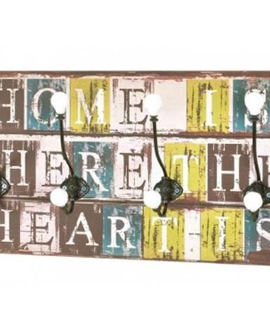 Nástenný vešiakový panel Home Heart Medi 42947%